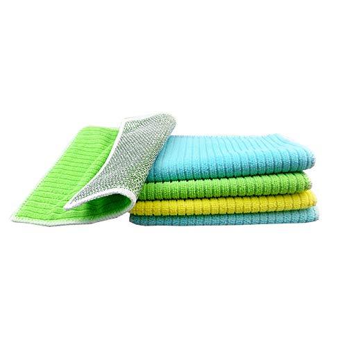 Houozon Rag, Afwashanddoek, 20 strips 18×23cm, multifunctionele vierkante handdoek, katoen gemakkelijk te absorberen, keukenreinigingsdoek, afwasdoek, veeg olie.
