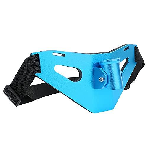 Cintura Cinturón de Pesca Ajustable Levántate Cinturón de Lucha contra la Pesca Aleación de Aluminio Gimbal Acolchado Soporte para caña de Pescado(Azul)