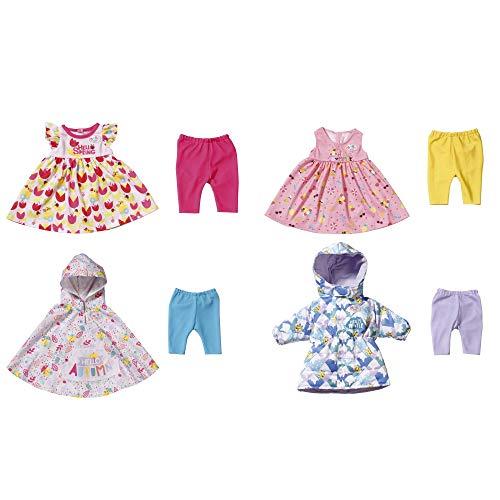 BABY born 4 Jahreszeiten Outfit Set für 43cm Puppe - Leicht für Kleine Hände, Kreatives Spiel fördert Empathie & Soziale Fähigkeiten, Für Kleinkinder ab 3 Jahren - Beinhaltet Kleider & mehr