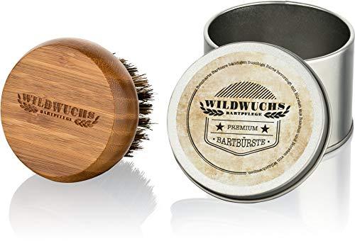 Cepillo para barba con cerdas naturales de jabalí y mango de bambú de...