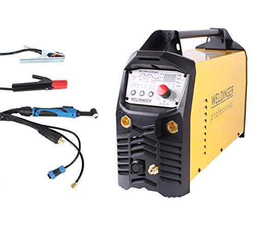 WELDINGER WIG-Schweißinverter WE 209P ACDC 'pro' 200 A Aluminiumschweißen HF-Zündung Puls (mit Elektrodenfunktion)