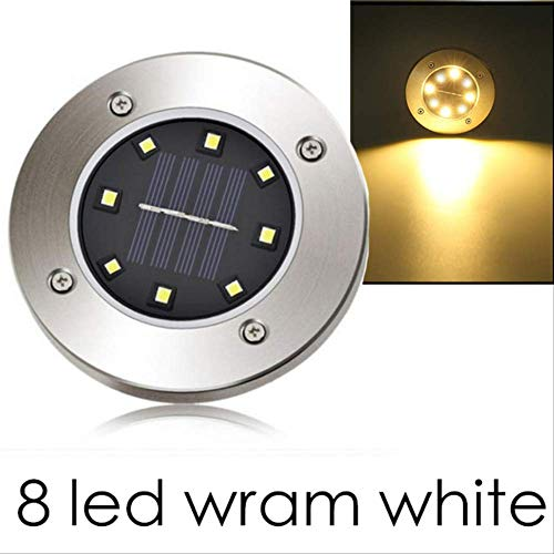 XYQY Garten Lichter LED Outdoor-Dekoration 4/8 LEDs wasserdichte LED Solar betrieben Boden Lampe Straße Weg Rasen Hof Solar Licht 1stk. 8 LED Wram weiß
