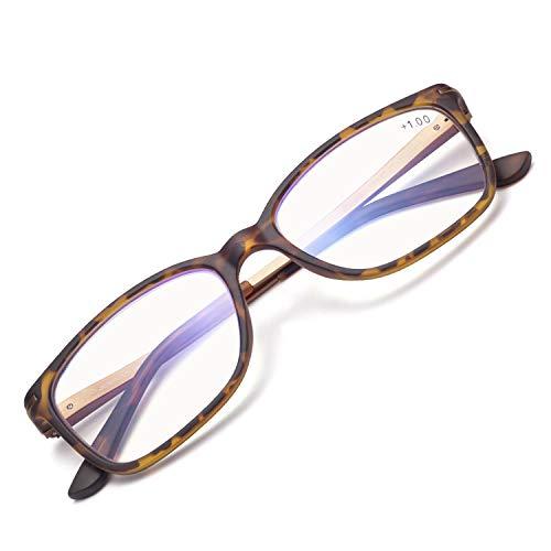 JIMMY ORANGE老眼鏡 超軽量 ブルーライトカット パソコンスマホ対応 バネ蝶番 携帯 スクエア オシャレ レディース メンズ ミニアグラス 老眼鏡AMLD5101G1(ベッコウ,1.0)