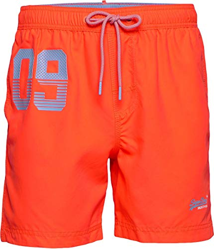 Superdry Heren Waterpolo zwembroek, Oranje