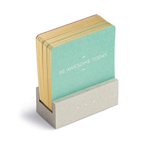 Motto of the Day Card Set by Compendium: 76 unique and inspiring statements with a desktop stand