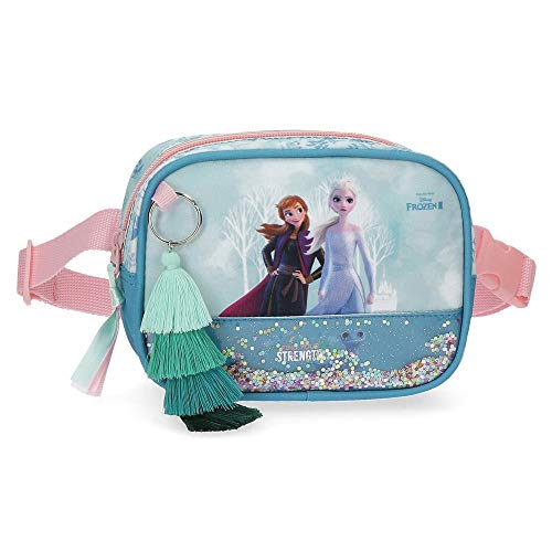 Disney Frozen Find Your Strenght Riñonera Azul 17x12x6 cms Poliéster