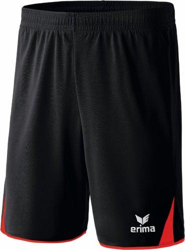 Erima Erwachsene Classic 5-C Shorts, schwarz/rot, M