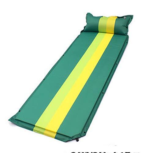 WYYUE Almohadilla de Dormir para Acampar de Espuma viscoelástica Ultra Gruesa autoinflable con Almohada de inflado rápido para mochilero