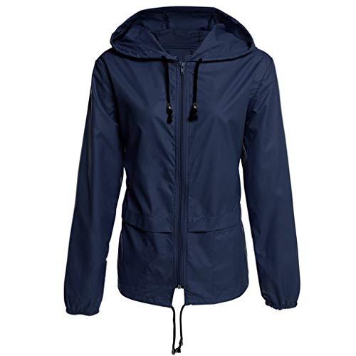 ELECTRI️ Veste Léger Respirant Femme Extérieure Protection UV Coupe-Vent de Sport à Capuche Imperméables à Séchage Rapide