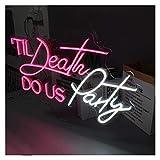 WMLWML Letrero de neón LED Personalizado, Logotipo de luz, Letras, Death DO US Party, Tablero Trasero Transparente acrílico Flexible 3D (Color : AU Standard)