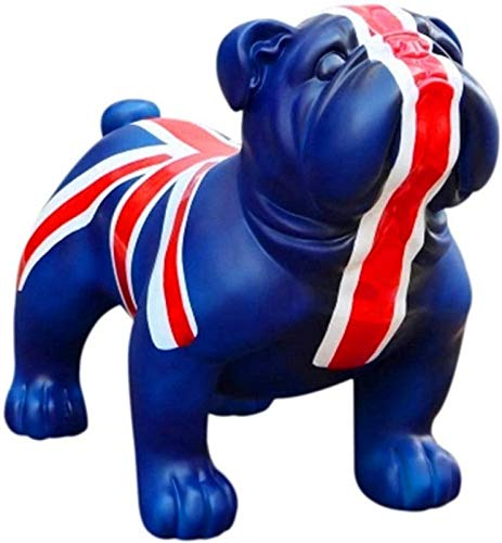 aipipl Estatuilla Animal Estatua Adornos Bulldog Escultura de Arte Estatua de Perro Accesorios de decoracin del hogar Artesana de Resina Accesorios de Fotos Exhibicin de Ventana Decoracin Estat