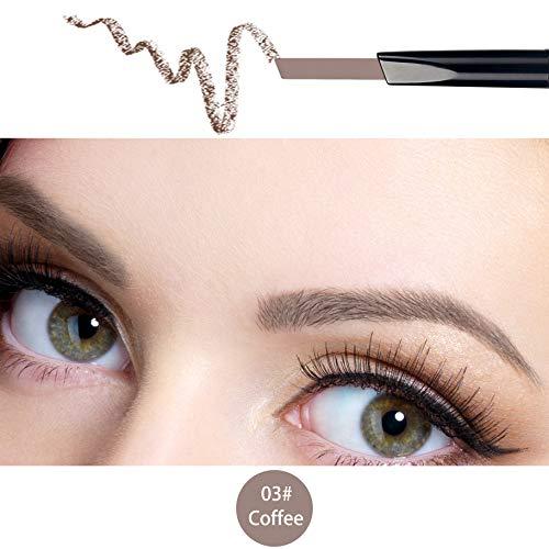 ANIFER Augenbrauenstift Kaffee Wasserdichtes automatisches einziehbares langlebiges Make-up mit zwei Enden (Kaffee/Coffee #3)