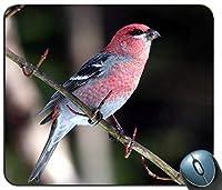 赤い羽の鳥をマウスパッド、ゲーミング長方形のマウスパッドを閉じる