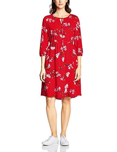 Street One Damen 142416 Kleid, Rot (Rot (Vivid red), 40