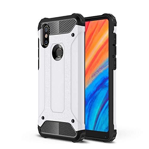 FanTings Capa para Xiaomi Mi Mix 2s, [à prova de choque] [Resistente] [Armadura resistente] Capa protetora de camada dupla robusta generosa, quatro cantos espessos, capa para Xiaomi Mi Mix 2s – Branca