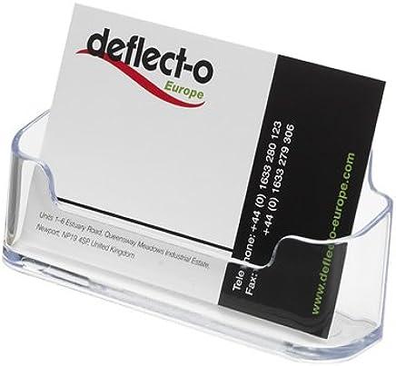 Deflecto 70101 Portabiglietti da Visita da Tavolo