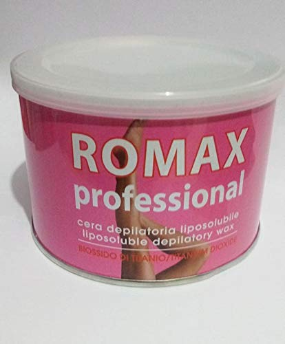 Romax Professional Cera Depilatoria Liposolubile Biossido di Titanio 400ml