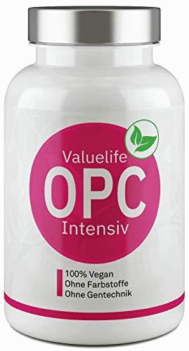 VALUELIFE OPC Intensiv: Französischer Traubenkernextrakt kombiniert mit Resveratrol aus Knöterichextrakt - laborgeprüft, hochdosiert, ohne Zusatzstoffe und hergestellt in Deutschland
