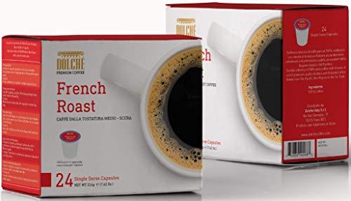 Dolché, American Coffee Capsules, French Roast Koffie Mengsel, Keurig 2.0 Compatibele K-cup, pak van 96 capsules (4x24)