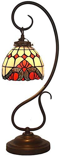 Lámpara De Mesa, Pantalla De Vidrio Hecha Mano, Lámpara De Mesa De Estilo Barroco Natural, Es De Vidrio Las del Cocción Sin Tiffany Color Pulgadas, 7 Pulgadas, A