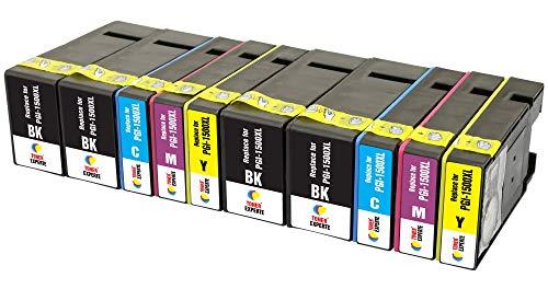 PGI-1500XL TONER EXPERTE® 10 XL Druckerpatronen kompatibel für Canon MAXIFY MB2350 MB2750 MB2755 MB2050 MB2150 MB2155 9182B001 9193B001 9194B001 9195B001   hohe Kapazität