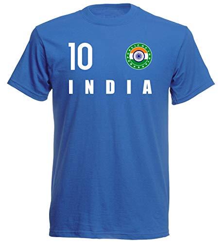 Nation Indien T-Shirt Trikot Wappen FH 10 BL (S)