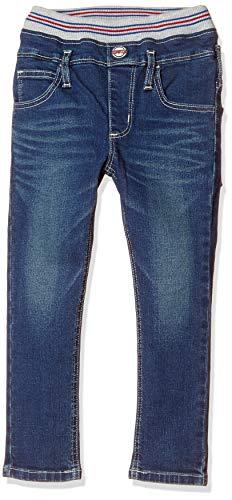 [エドウィン] ジーンズ [脱ぎ穿きしやすい]ウエストリブ ストレートパンツ (ストレッチ) 【80~130cm】ETB03R キッズ 濃色ブルー 80