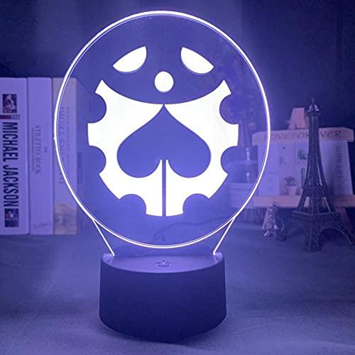 Lámpara De Noche Acrílica Anime Jojo Bizarre Adventure,Decoración De Dormitorio Sensor Táctil De Luz Mesa Colorida Luz De Noche Led Figura De Dio Luces De Noche Led