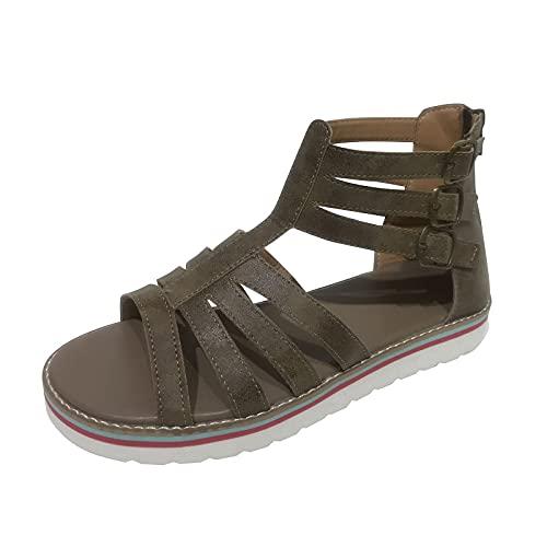 Sandalias plataforma mujer verano 2021 de cuña Casual,Sandalias de Estilo romanas,diseño hueco...
