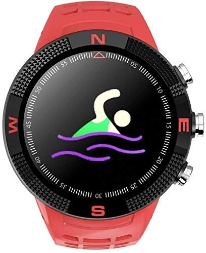ZHENAO Fitness Tracker 3D Pantalla 3D F18 Reloj Inteligente Ratón Cardíaco Nivel de Al Aire Libre Gps Pantalla Táctil Impermeable Bluetooth Profundidad de Reloj Impermeable para Nad