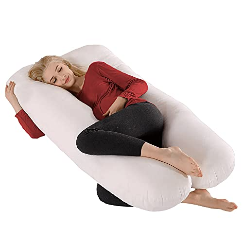"""COMFYSURE Pregnancy Pillow - 59"""" U Shaped Full Body Pillow for Maternity Support or Side Sleepers - Hypoallergenic, Comfortable Cushion for Pregnant or Nursing Women, Supports Back, Hips, Legs & Belly"""