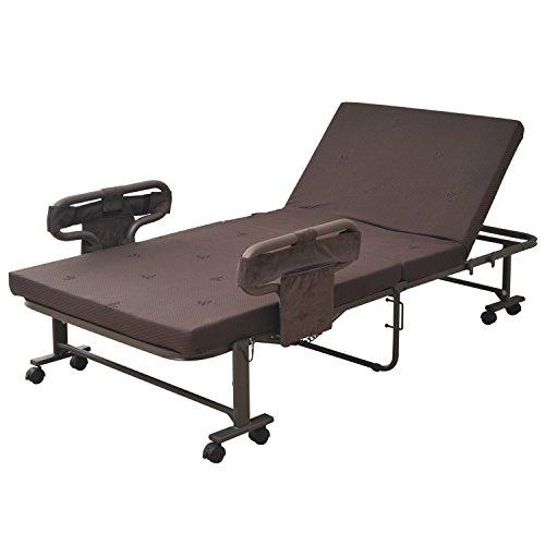 手すり付き 折りたたみベッド BAS-1S シングル