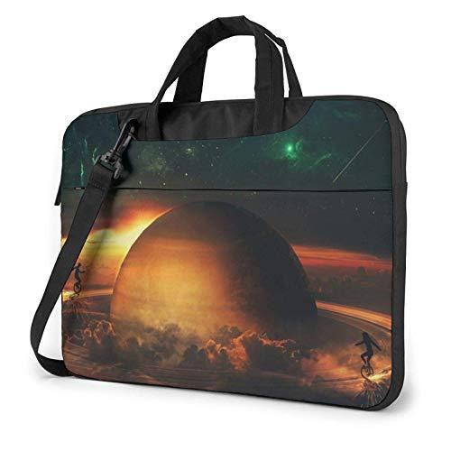 Bolsa para computadora portátil Planet Laptop Hombro Messenger Bag 13 Pulgadas Funda Impermeable para computadora portátil Maletín de Transporte Maletín