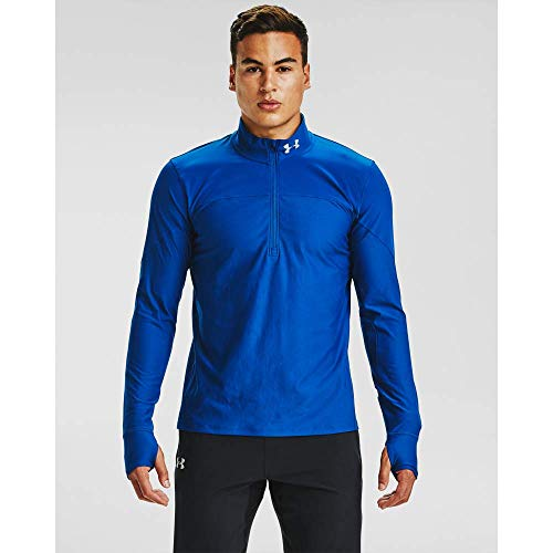 Under Armour Qualifier - Camiseta con Media Cremallera para Hombre, Not Applicable, Qualifier Media Cremallera, Hombre, Color Azul Grafito/Azul eléctrico/Reflectante (581), tamaño Extra-Large