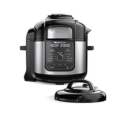 Ninja FD401 Foodi 8-qt. 9-in-1 Deluxe XL Cooker & Air Fryer-Stainless Steel Pressure Cooker, 8-Quart, (Renewed)
