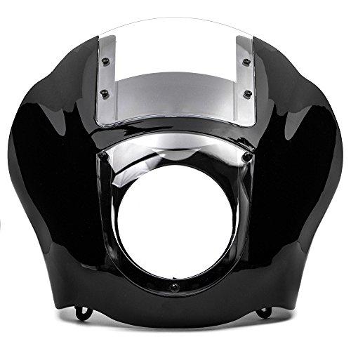 Krator NEW Black & Clear Quarter Fairing Windshield Kit Compatible with Harley Davidson XL FXR Dyna