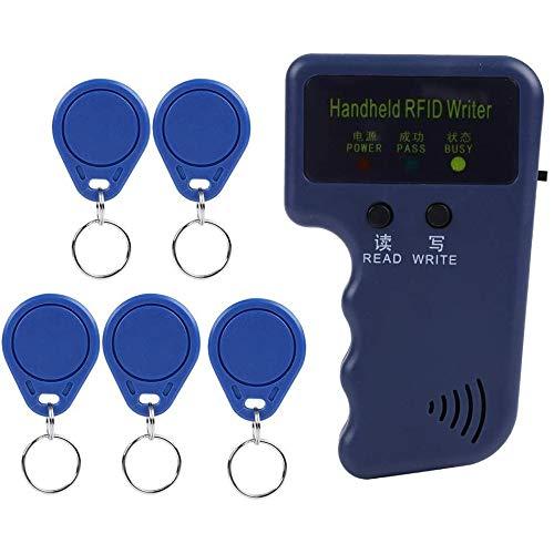 Vinbcorw Das Lesen und Rechner-ID-Karte IC Reiswasser-Replikator-Karte Access Control RFID Reader Writer Kopierer 125 kHz mit 10 Labels Schreiben,Blau