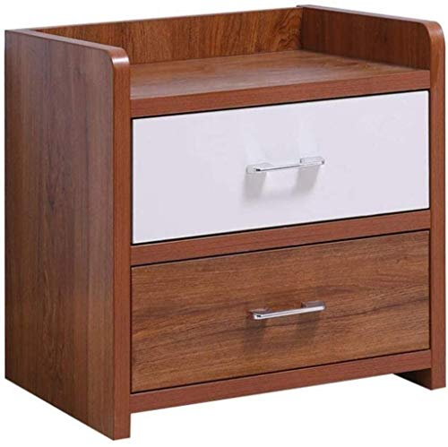 Nachttisch, Nachttisch, Frisiertisch, Schlafzimmer, Aufbewahrungsschrank, einfacher Beistelltisch aus Holzwerkstoff, Farbe: Braun, Größe: 46,5 x 40 x 48,5 cm