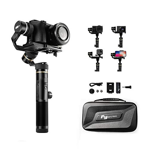 FeiyuTech G6 Plus 3-Axis Handheld Stabilizer Gimbal for Gopro 8 7 6 5 Sony RX0 DJI Osmo Action Camera, Mirrorless Camera,Pocket Camera,Smartphone iPhone X Xs XR 8 7 Xiao MI Samsung S9 800g Payload