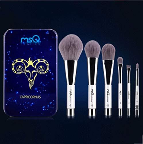 Pinceaux Maquillage Ensemble d'outil cosmétique débutant 6 pcs ensemble d'aimant de brosse d'ombre d'oeil de brosse pour 12 conception de constellation (Couleur : Brown)