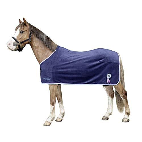 HKM 92036900.0011 Abschwitzdecke Funny Horses, dunkelblau