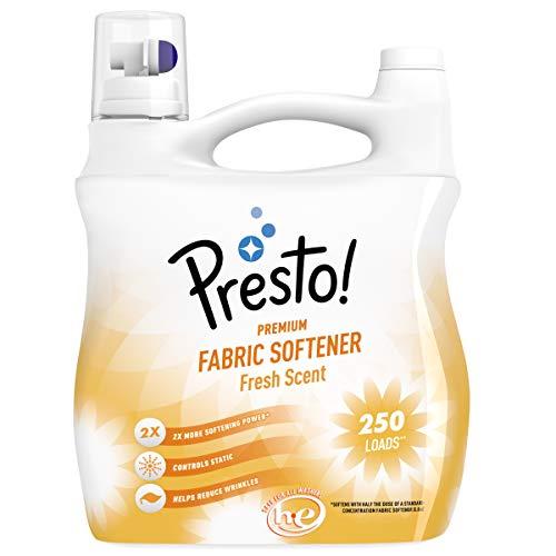 Amazon Brand - Presto! Concentrated Fabric Softener, Fresh Scent, 250 Loads, 100...