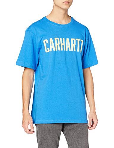 Carhartt Southern Block Logo T-Shirt, Bolt Blue, XL Uomo