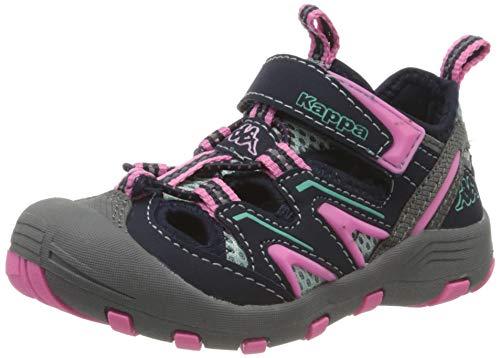 Kappa REMINDER K Outdoor-Schuhe für Kinder │ geschlossene Sandalen mit fester Sohle │ mit Klettverschluss und Schnürkordel │ Mix aus Sneaker & Sandale für Mädchen und Jungen │ in den Größen 25 - 35
