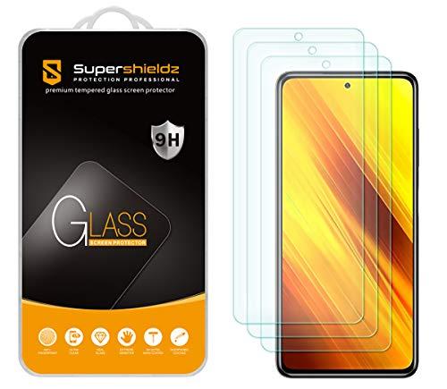 Supershieldz - Protector de pantalla de cristal templado para Xiaomi Poco X3 / Poco X3 Pro/Redmi Poco X3 NFC, antiarañazos, sin burbujas