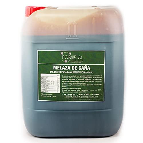 MELAZA POBALLE para COMPOST – Cultivo, cosechas y plantas. Garrafa de 28 kg de MELAZA de Caña de alta pureza.