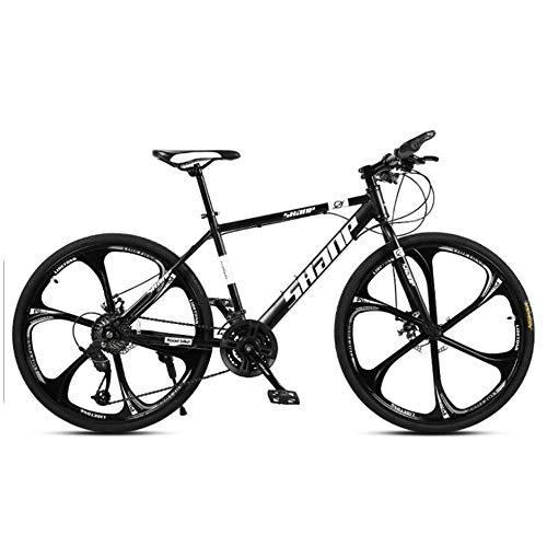 Bicicletas De Montaña Mujer 29 Pulgadas,Bicicleta De 21 Velocidades Y 6 Ruedas, Cuadro De Acero Al Carbono, Bicicleta Accionada por Cadena 24speed Black