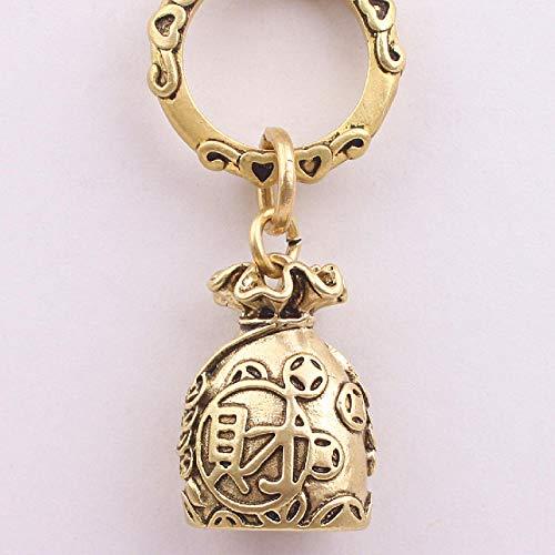 LOYWT Ping An Money Bag Llavero de latón Puro Regalo para niños y niñas Adorno Decorativo Colgante- # G