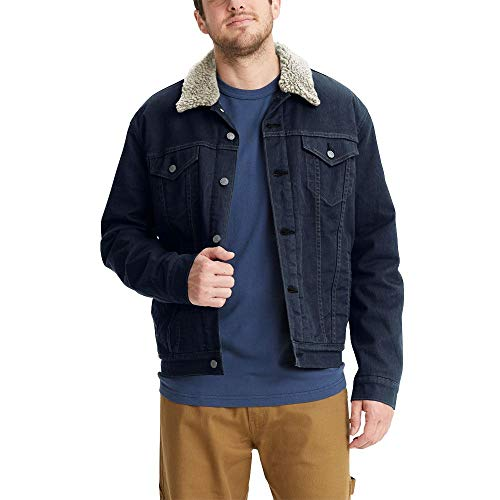 Signature by Levi Strauss & Co. Gold Label Men's Signature Trucker, Glowing-Sherpa Jacket, Large