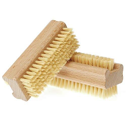 Brosse de bain pour ongles, manucure, pédicure, grattage antidérapant, double face, poils en nylon